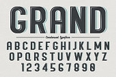 Decorative vector vintage retro typeface, font, typeset