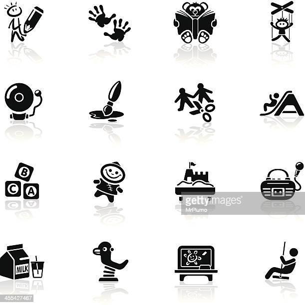 Deep Black Series | preschool icons