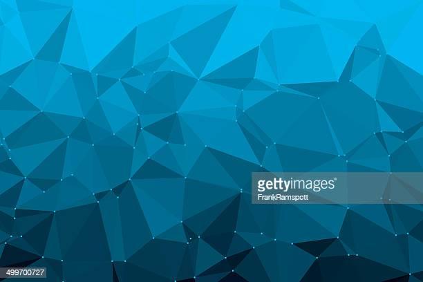 Deep Sky Blue Triangle Polygon Pattern