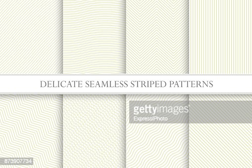 Delicate seamless striped patterns. Fabric textures. Tileable swatches : arte vetorial
