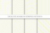 Delicate seamless striped patterns. Fabric textures - Tileable swatches.
