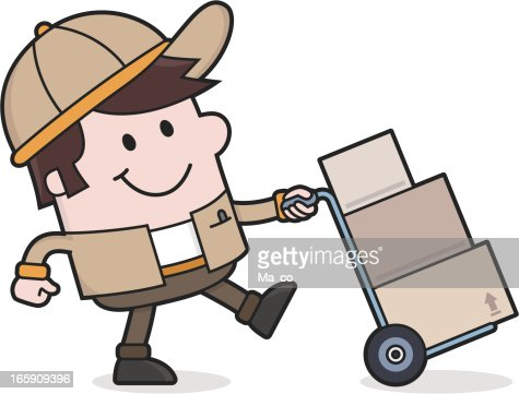 Delivery Service Deliveryman Brings Packages Removal Man