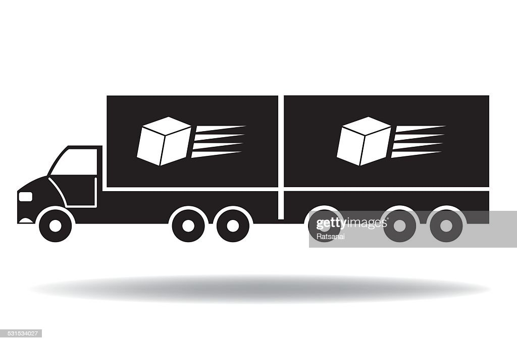 Delivery Truck Icon Vector Art | Getty Images