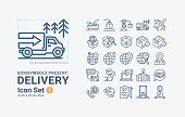 Set of Delivery-Outline-B01 Vector Icons