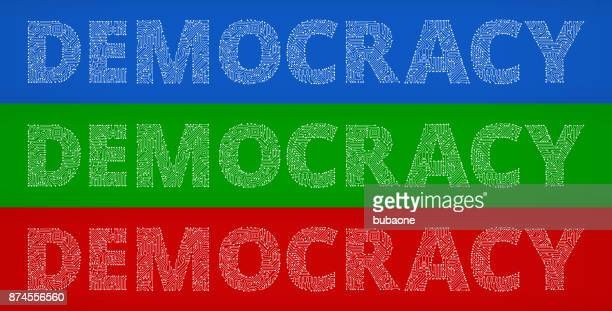 Democracy Circuit Board Color Vector Backgrounds