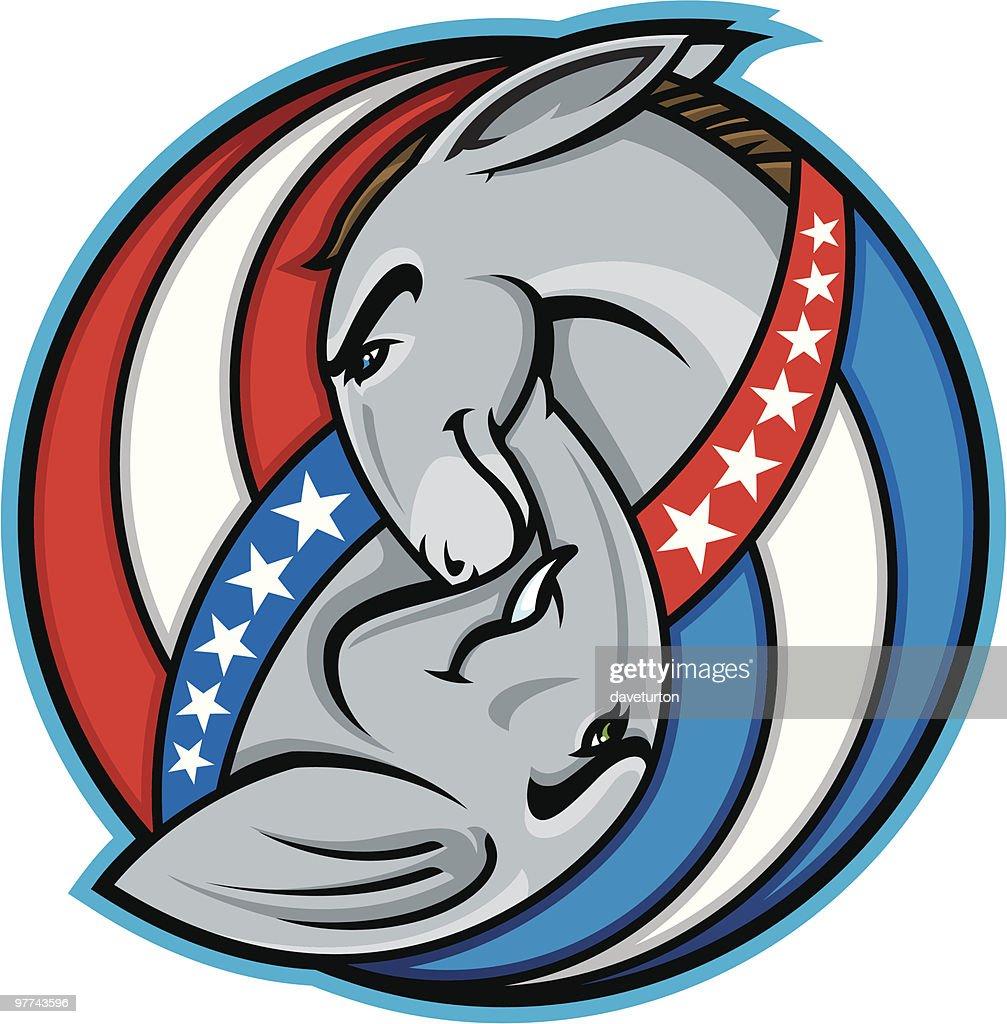 Democratic and Republican Symbols : Vector Art