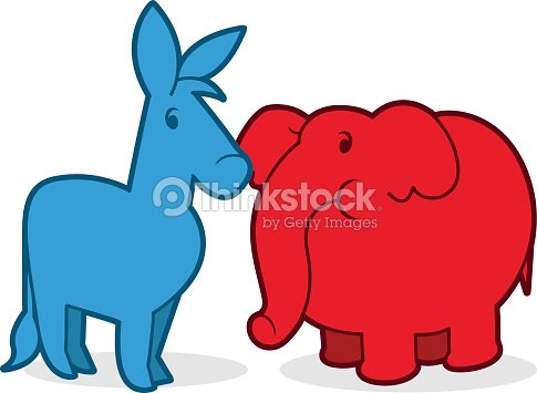 democratic donkey and republican elephant vector art thinkstock