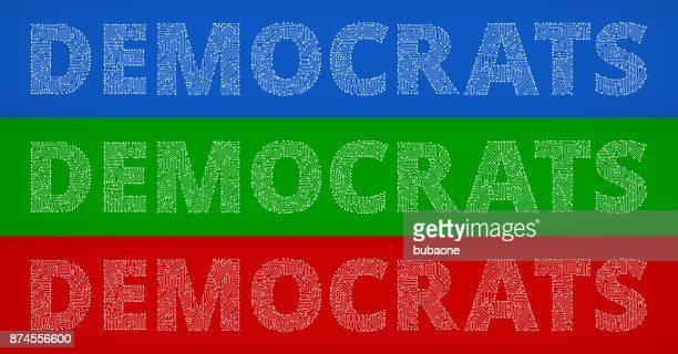 Democrats Circuit Board Color Vector Backgrounds