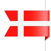 Denmark Flag Vector Bookmark Icon - Illustration