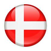 Denmark Flag Vector Round Icon - Illustration