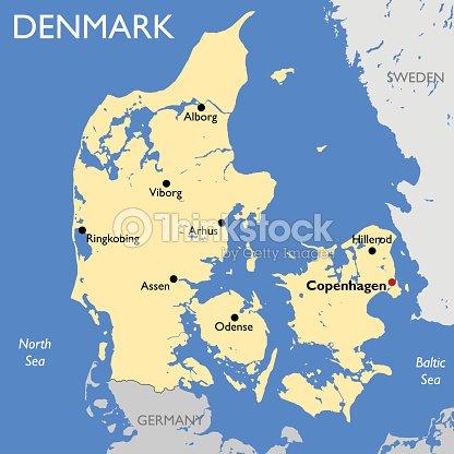 Denmark Map Vector Art | Thinkstock