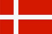 Denmark state flag. Vector illustration.