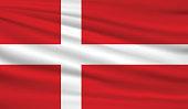 Vector Denmark flag