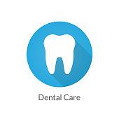 Dental care flat illustration icon for design