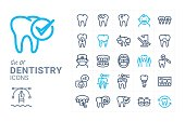 Dentistry vector icon set 1