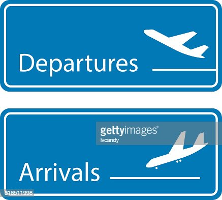 Departures and arrivals board vector art getty images - Felpudo arrivals departures ...