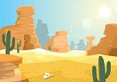 Desert landscape. No transparency used.