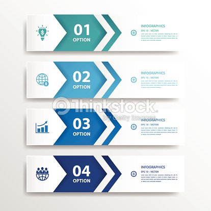Design clean number banners templategraphic or website for Blueprint number