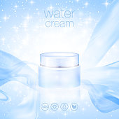 Design cosmetics product advertising. Vector illustration. realistic