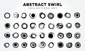 an amazing illustration of Design Elements Abstract swirl & circle