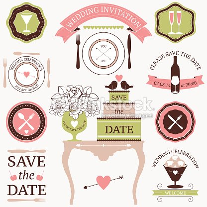 Design elements for decorative wedding dinner invitations vector art design elements for decorative wedding dinner invitations vector art junglespirit Choice Image