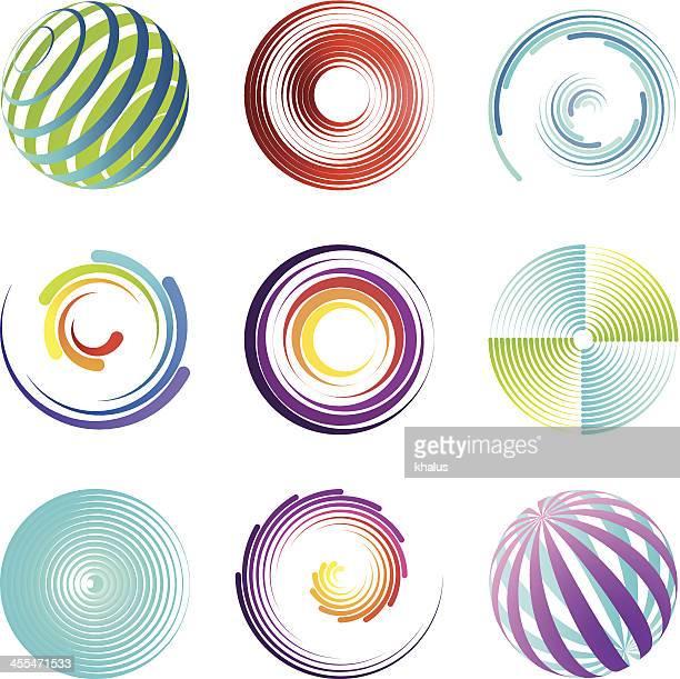 Conjunto de elementos de diseño/redondo