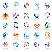 Design elements set. Abstract icons. Vector art.