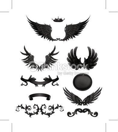 Elementi di design con le ali arte vettoriale thinkstock for Elementi di design