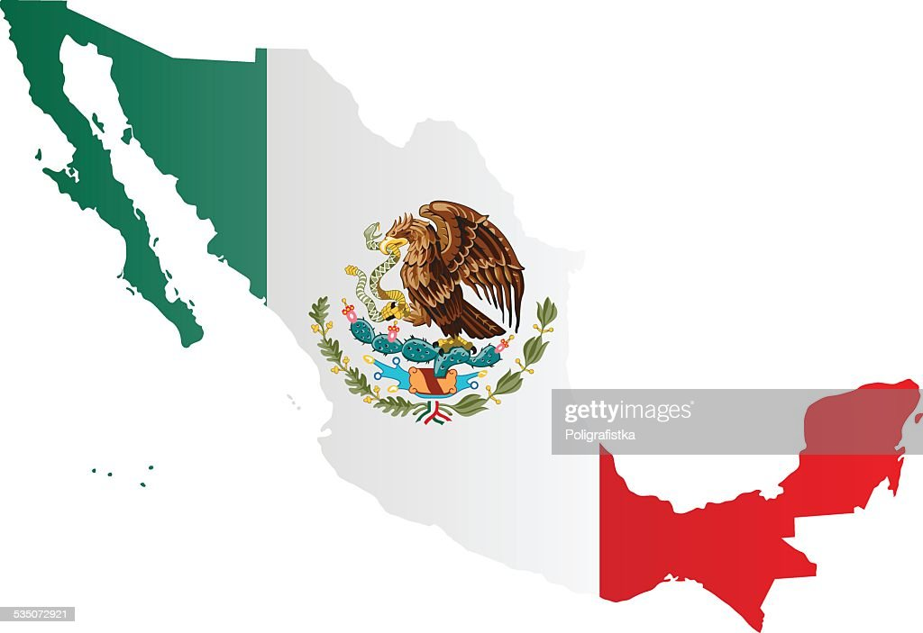 design flagmap of mexico vector art getty images mexican flag eagle vector mexico flag vector