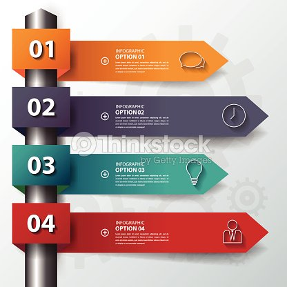 design flat shadow step number banners graphic or websitevecto - Banner Design Ideas