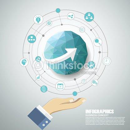 aaa87618d25 Projeto Geométrico Terra Infográficos Pode Ser Utilizado Para ...