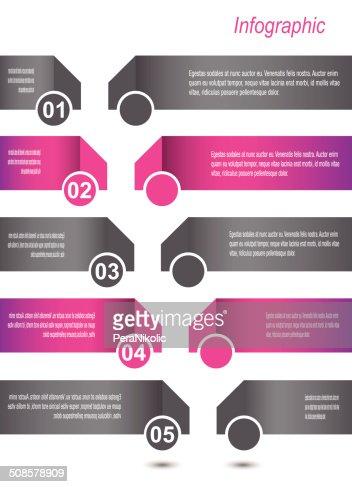 Design Infographic Template : Vector Art