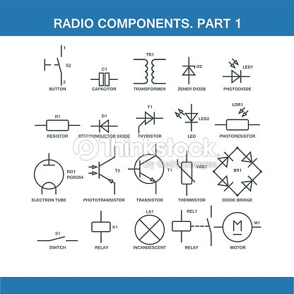 designation of components in the wiring diagram vector art thinkstock designation of components in the wiring diagram vector art