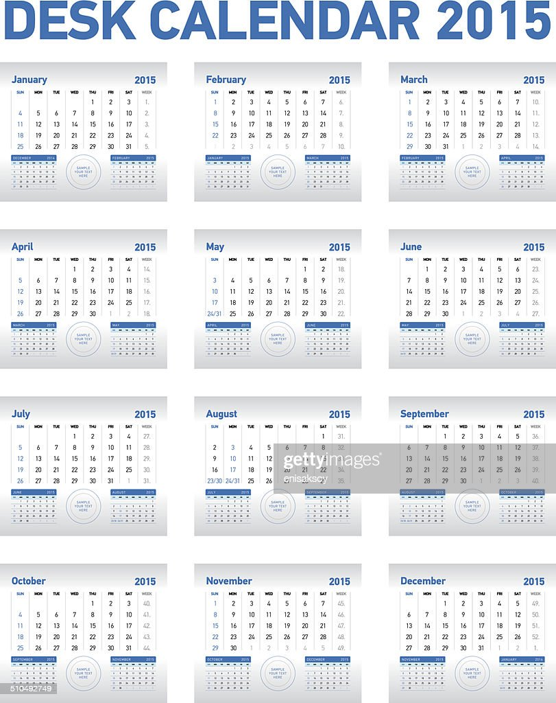 Calendar Vector Art : Desk calendar vector art getty images