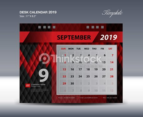 desk calendar 2019 template week starts sunday stationery design