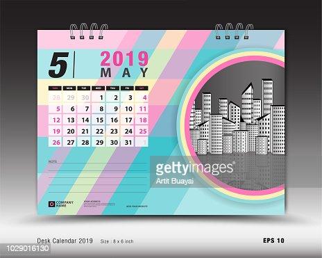 Desk Calendar For May 2019 Template Printable Calendar Planner