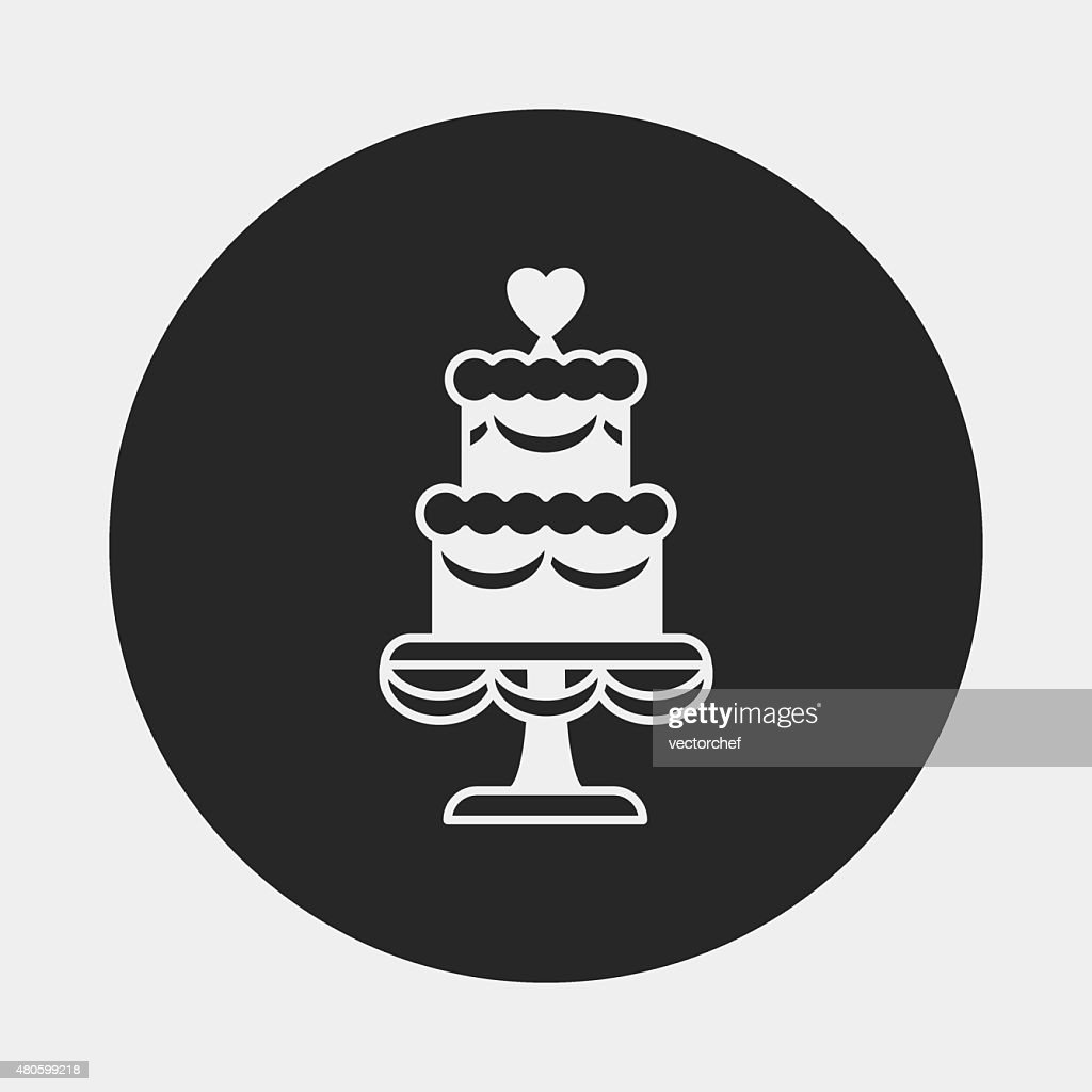 dessert cake icon : Vector Art
