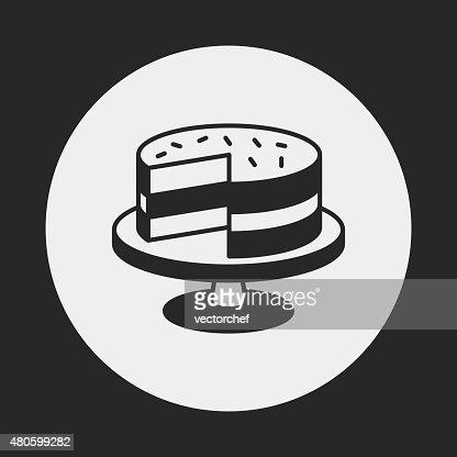 dessert cake icon : Vector Art
