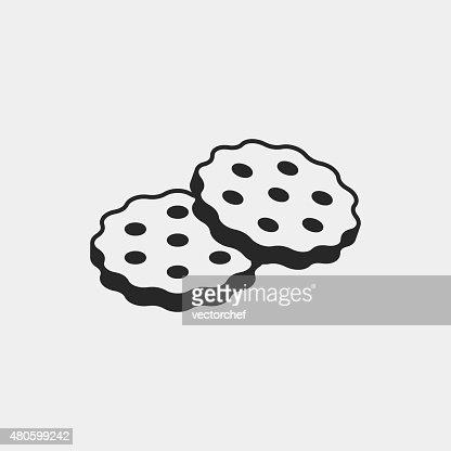 dessert cookie icon : Vector Art