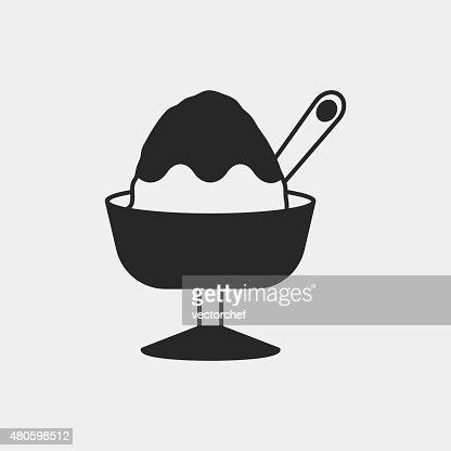 dessert ice cream icon : Vector Art