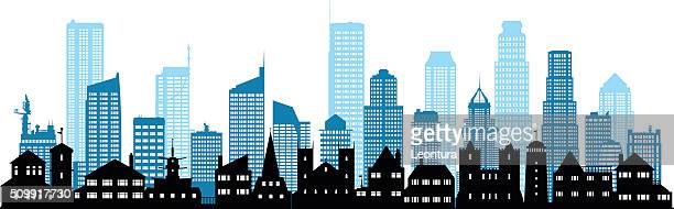 Detailed City (Each Building is Moveable and Complete)
