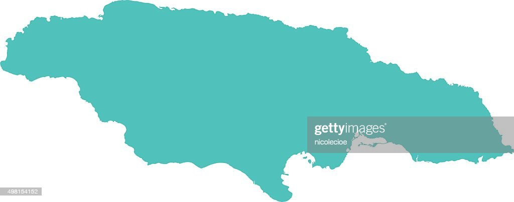 Detailed Jamaica Map Vector Art Getty Images - Jamaica map