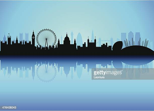Detailed London Skyline (Each Building is Moveable and Complete)