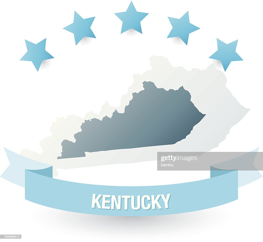 Detailed Map Of Kentucky State Vector Art  Getty Images