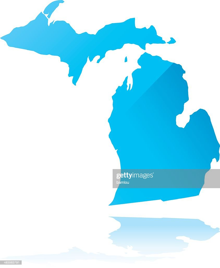 Michigan State County Map Vector Art Getty Images - Michigan state map