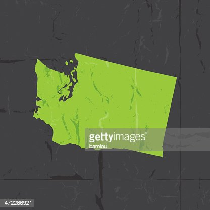 Detailed Map Of Washington State Vector Art Getty Images - Detailed map of washington state
