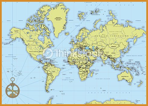 Detailed political world map vector art thinkstock detailed political world map vector art gumiabroncs Images