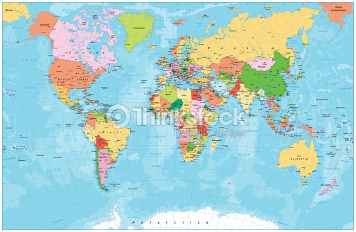 Detailed Political World Map With Capitals Rivers And Lakes ...