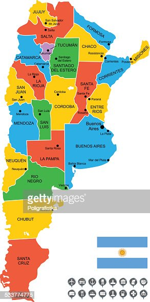 Map Of Argentina Vector Art Getty Images - Argentina map detailed