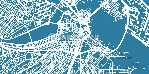 Detailed Vector Map Of Boston Scale 130 000 Usa Vector Art | Thinkstock